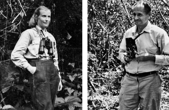 Dr. Maria and Prof. Dr. Hans-Wilhelm Koepcke, the founders of Panguana, in the rainforest,