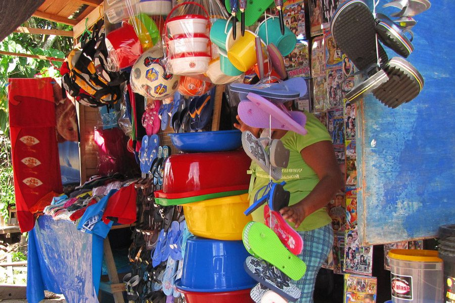 A variety of locally very practical offerings at a typical store in Yuyapichis